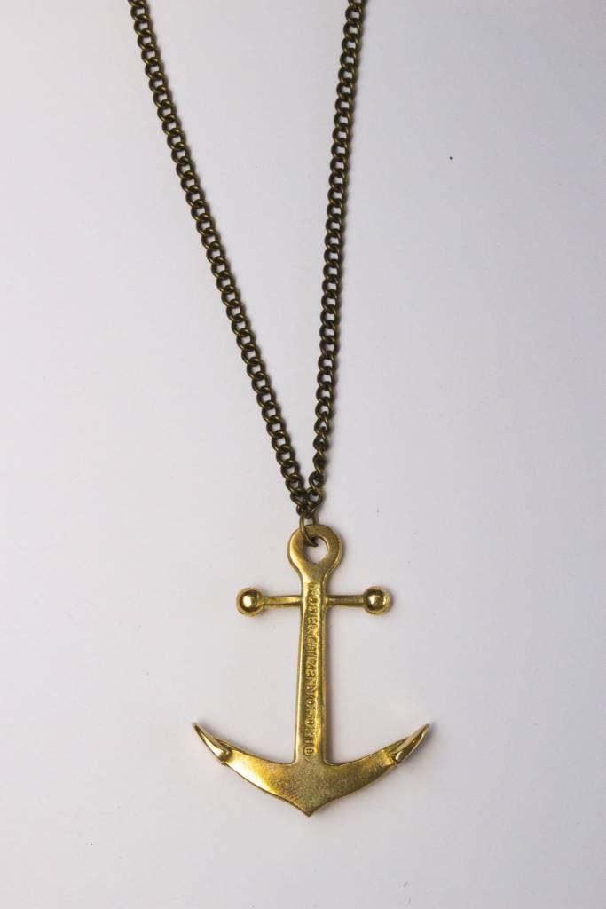 Model Citizen MC Anchor Necklace Brass