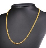 18K Gold Plated 3MM Cuban Link Necklace - 26""