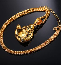 18K Gold Plated Buddha Pendant Necklace - 22""