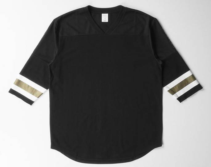CROOKS - 3/4 Slv Football Top Redzone BLACK