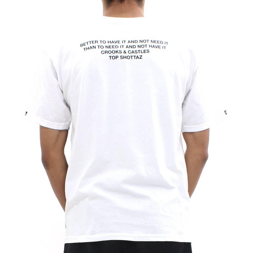 CROOKS - T-shirt Stick Em Up WHITE