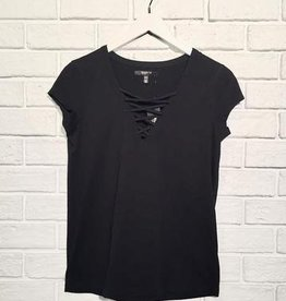 BRUNETTE THE LABEL - Christina Lace Up Tee