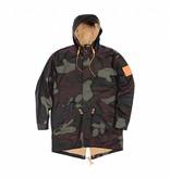 AKOMPLICE - Overdye Camo Trench Coat