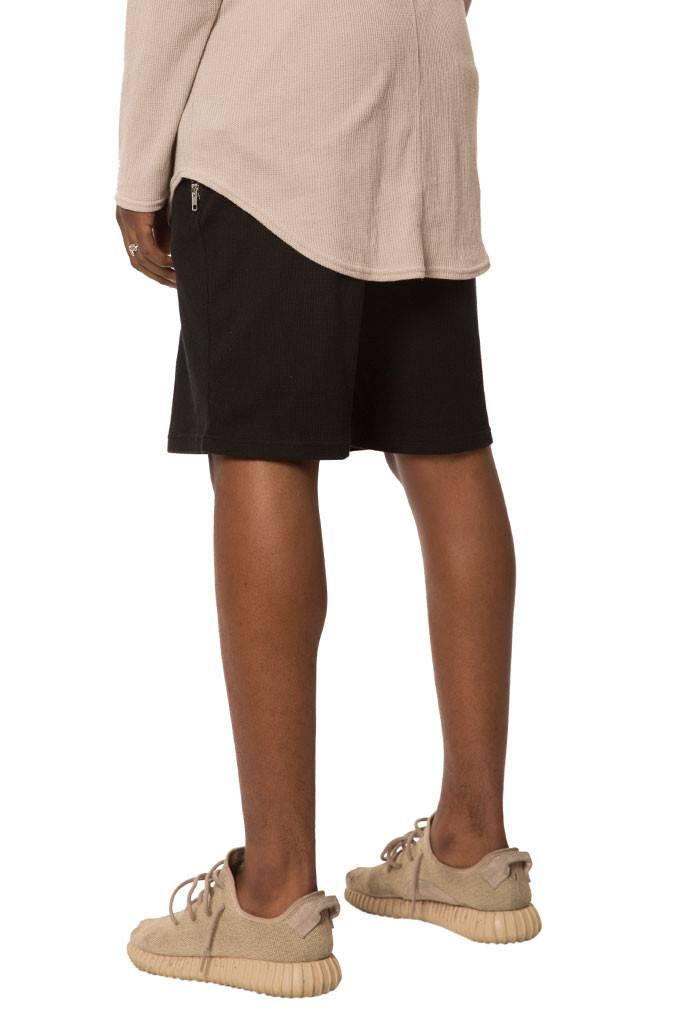 ELWOOD - Black Thermal Zip Pocket Shorts