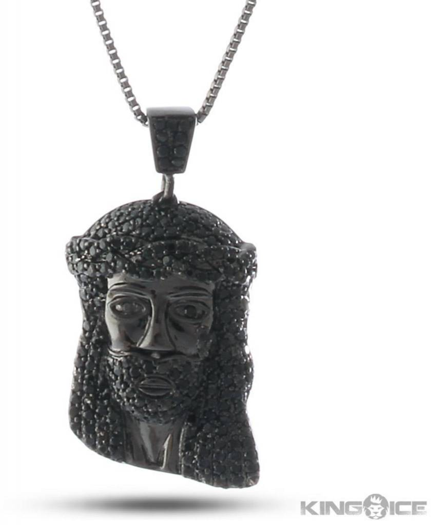 KING ICE - 14K Gold CZ Jesus Piece NK