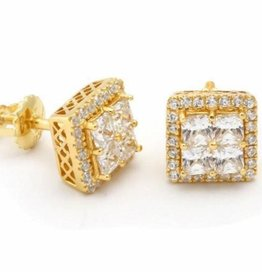 KING ICE - 14K Gold Layered CZ Earrings