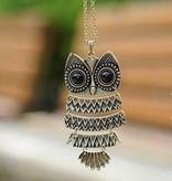 Owl Necklace Bronze/Copper