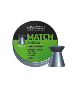 JSB Match Diabolo JSB Green Match Diabolo Light Weight .177 Cal, 7.33gr, 4.48mm