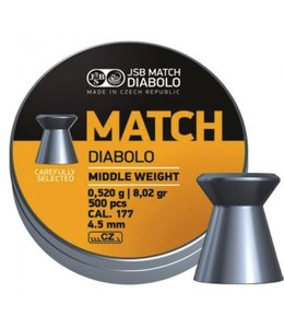 JSB Match Diabolo JSB Yellow Match Diabolo Middle Weight .177 Cal, 8.02gr, 4.50mm