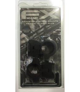"FX Airguns FX No-Limit Mounts - 1"" Weaver/Picatinny"