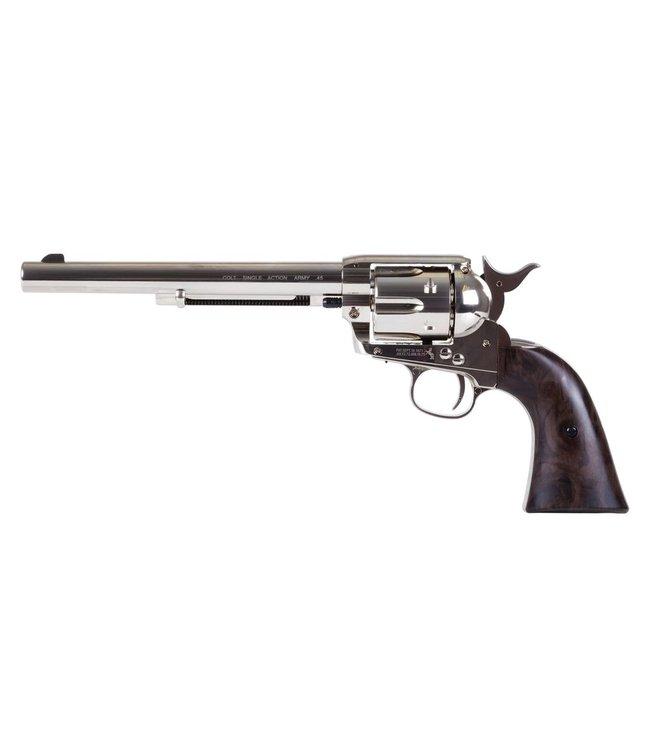 "Colt Colt SAA Peacemaker 7.5"" Pellet Revolver - Nickel"