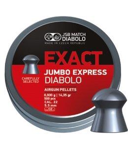 JSB Match Diabolo Exact Jumbo Express .22 Cal, 14.3gr