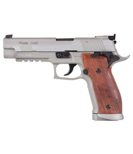 Sig Sauer P226 X-Five Silver w/ Faux Wood Grips
