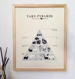 Fringe Supply Co. Yarn Pyramid Letterpress Print