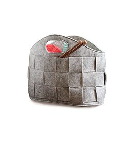 Gleener Basket Case Tote Dove Grey
