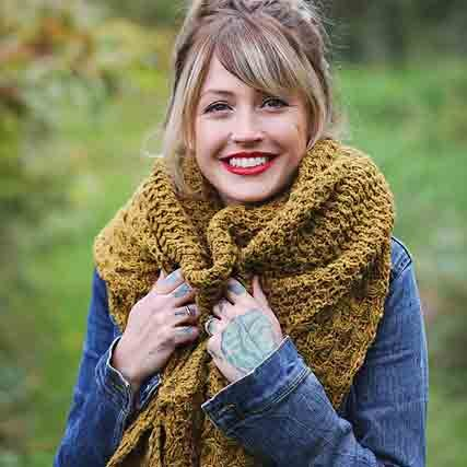 Drea Renee Knits Winter Honey Shawl/Shawlette
