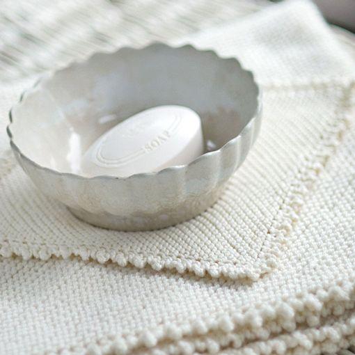 Churchmouse Picot-Edge Baby Blanket & Washcloth