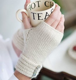 Churchmouse Welted Fingerless Gloves