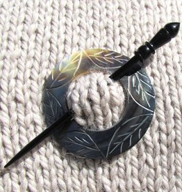 Plymouth Yarn Co. 2047 Etched Circle Shell Shawl Pin