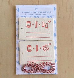 Knitting Icon Letterpress Tags