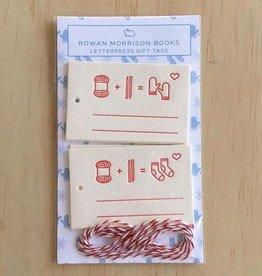 Rowan Morrison Books Knitting Icon Letterpress Tags