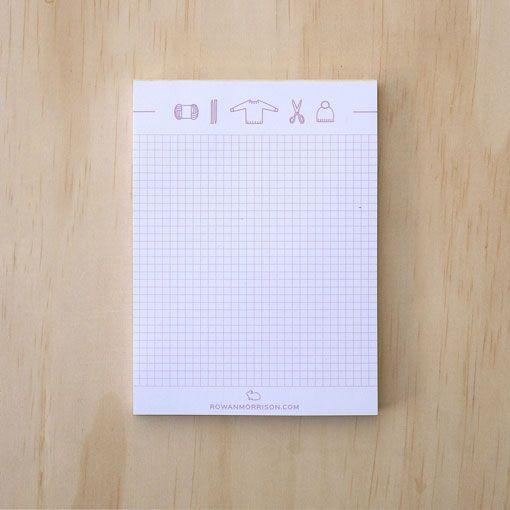Rowan Morrison Books Knitting Icons Notepad