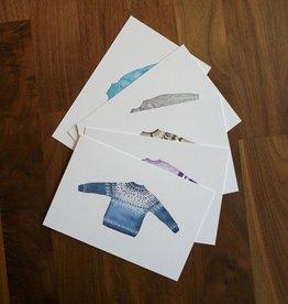 Sweater Postcard Set