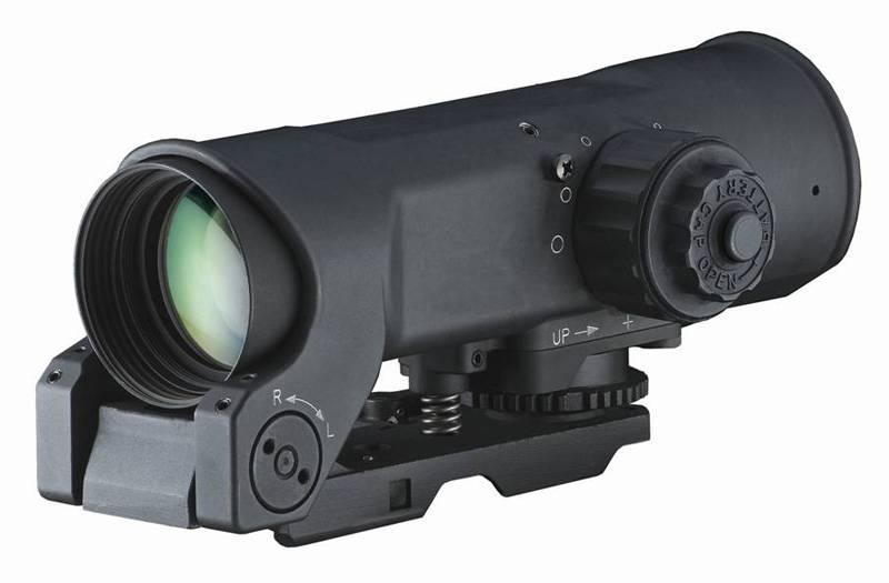Elcan Elcan SpecterOS4x Combat Optical Sight 5.56 (CX5755 dual illuminated ballistic chevron reticle), w/ Picatinny mount, Black