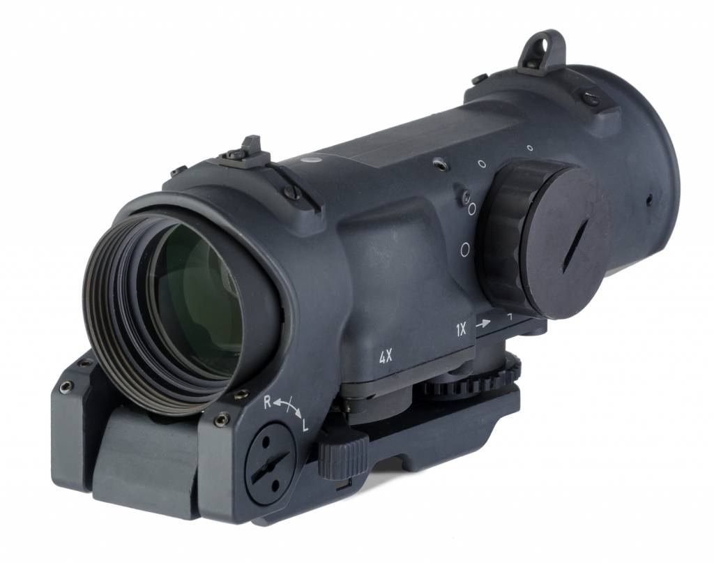 Elcan Elcan SpecterDR Dual Role 1x/4x Optical Sight 5.56 (CX5395 ballistic reticle) w/ Intergral A.R.M.S. Picatinny Mount, Black