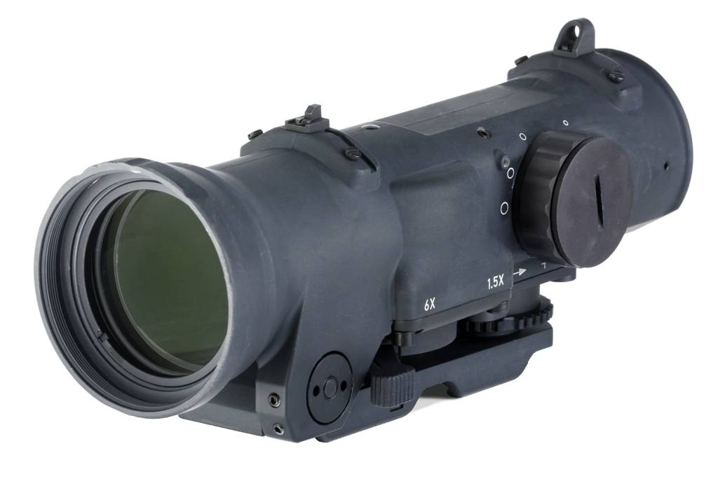 Elcan Elcan SpecterDR Dual Role 1.5x/6x Optical Sight 5.56 (CX5455 ballistic reticle) w/ integral A.R.M.S. Picatinny mount, Black
