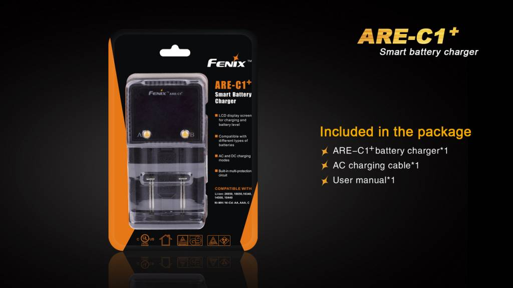 Fenix Fenix 2-Channel Charger for 18650 Battery (ARE-C1+)