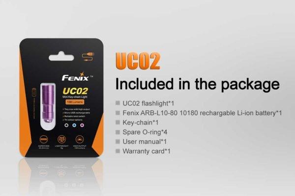 Fenix Fenix UC02 Rechargeable Keychain Flashlight