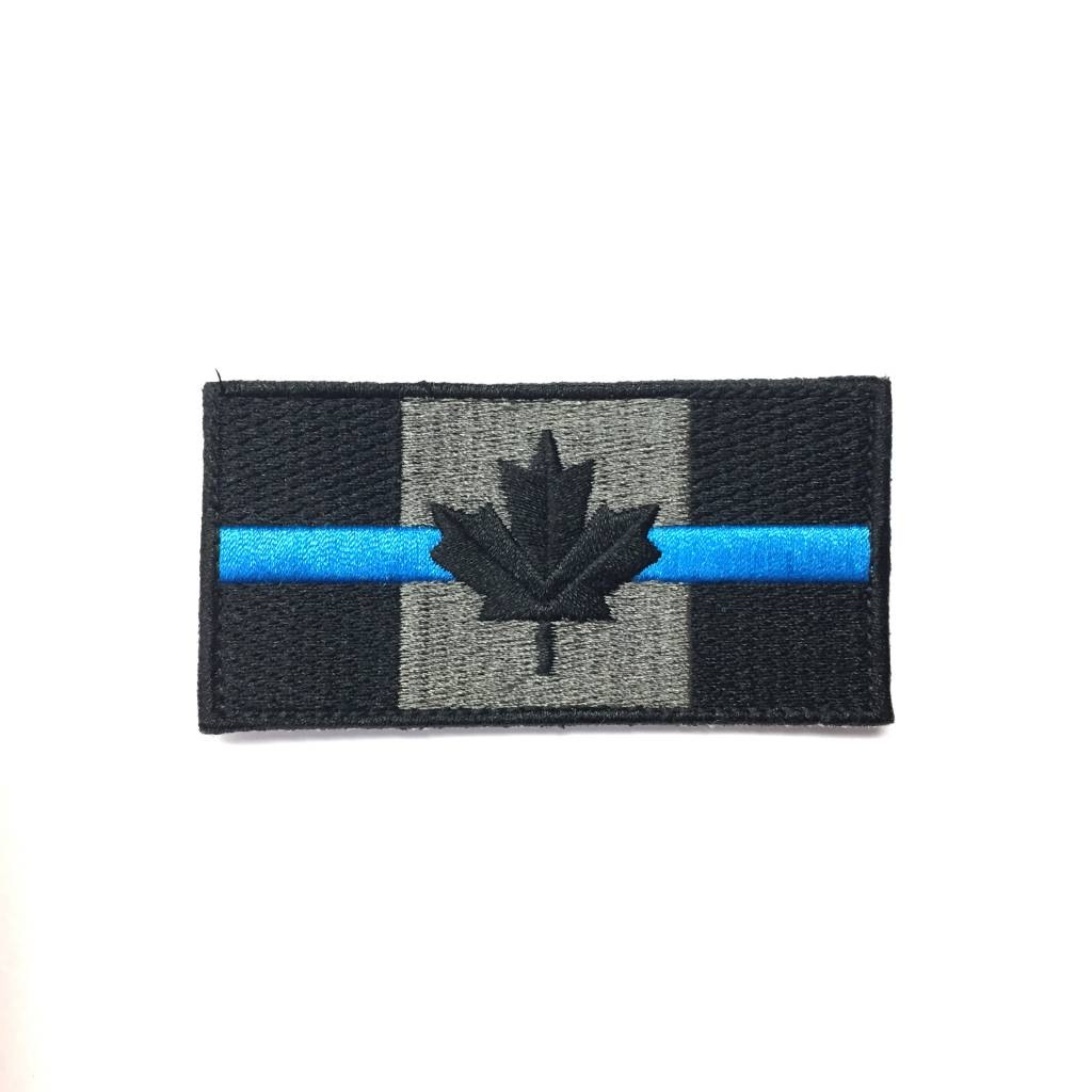 Canadian Flag, Small, Blue Line