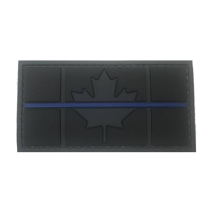 Custom Canadian Flag, PVC, Blue Line