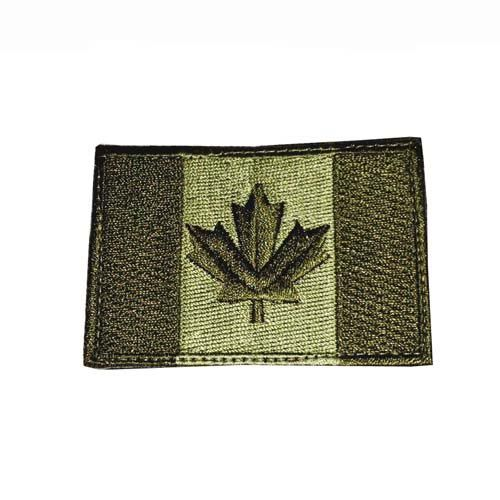 Canadian Flag, Large, Olive Drab