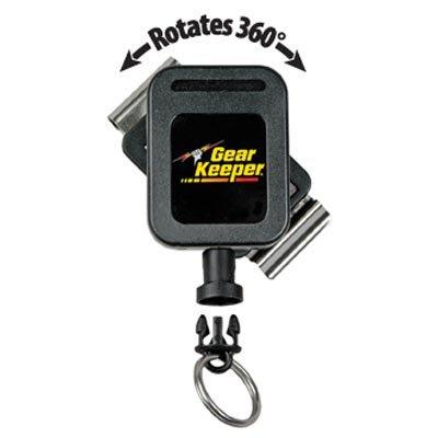 "Gear Keeper Gear Keeper Key Retractor 3-oz Force - Rotating Belt Clip Mount (Extended 2 1/4"")"