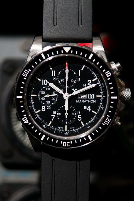 Marathon Watches Marathon Watches Pilot's Chronograph - Swiss Made Military Chronograph Pilot's Automatic Watch w/ Tritium