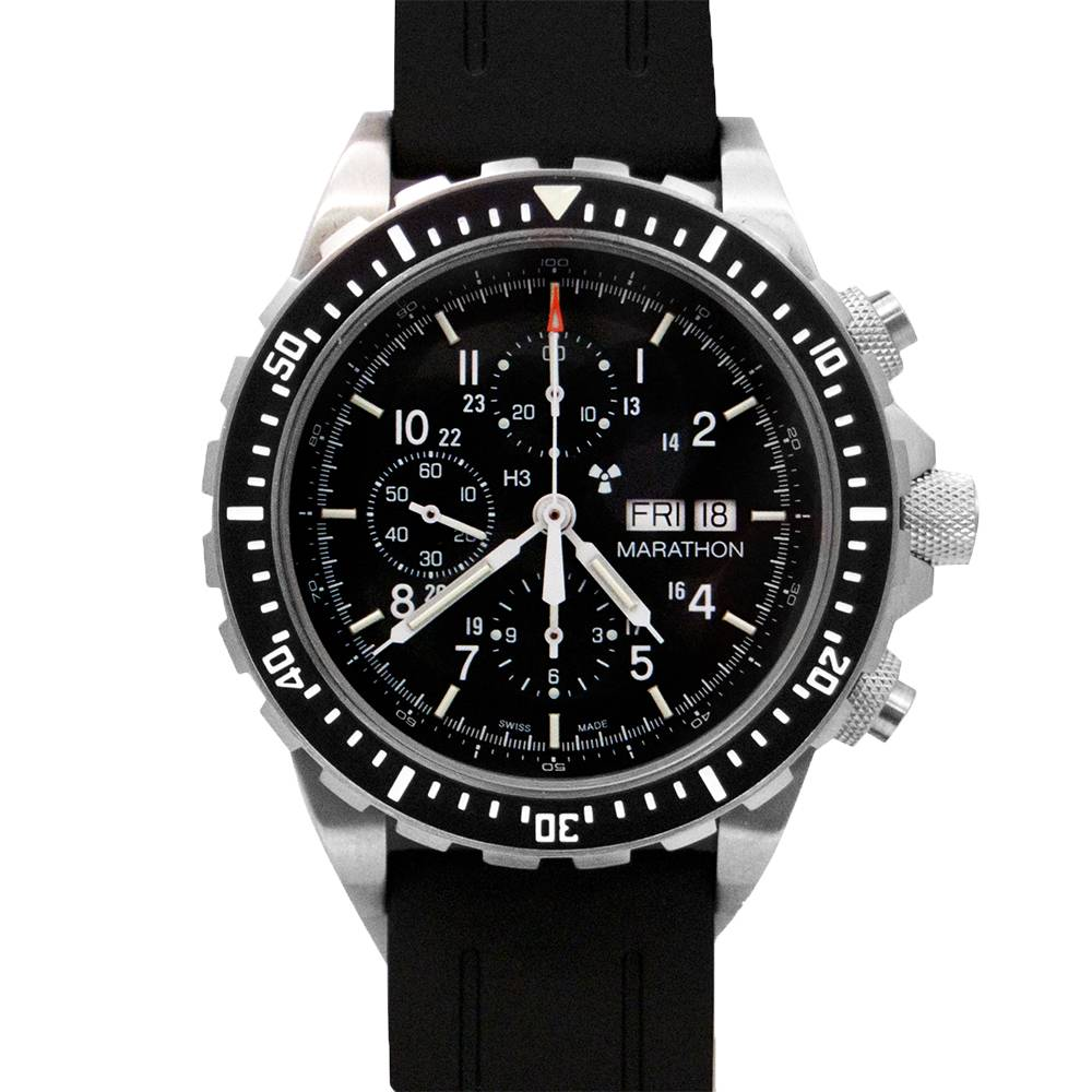 Marathon Watches Marathon Watches Pilot's Chronograph - Swiss Made Military Chronograph Pilot's Automatic Watch w/ Tritium