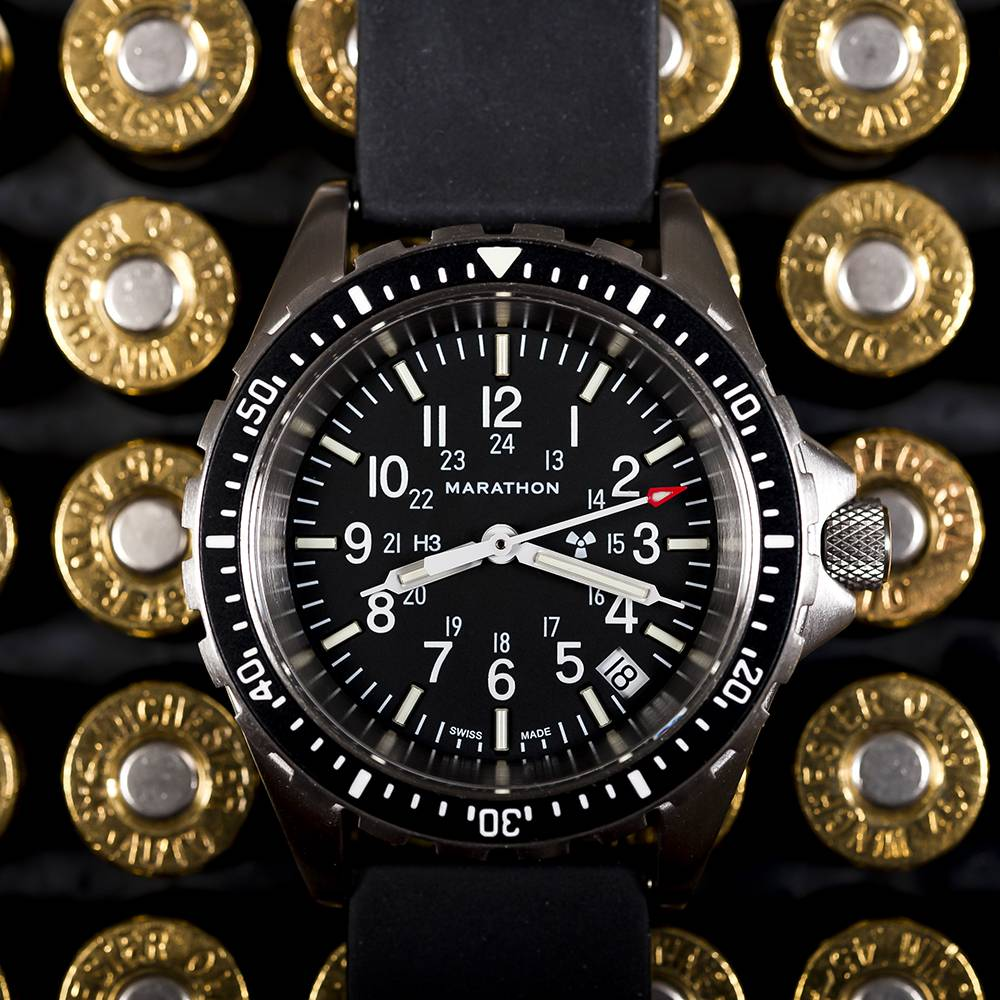 Marathon Watches Marathon Watches Swiss Made Military Issue Milspec Diver's Quartz Medium Watch w/ Tritium Illumination