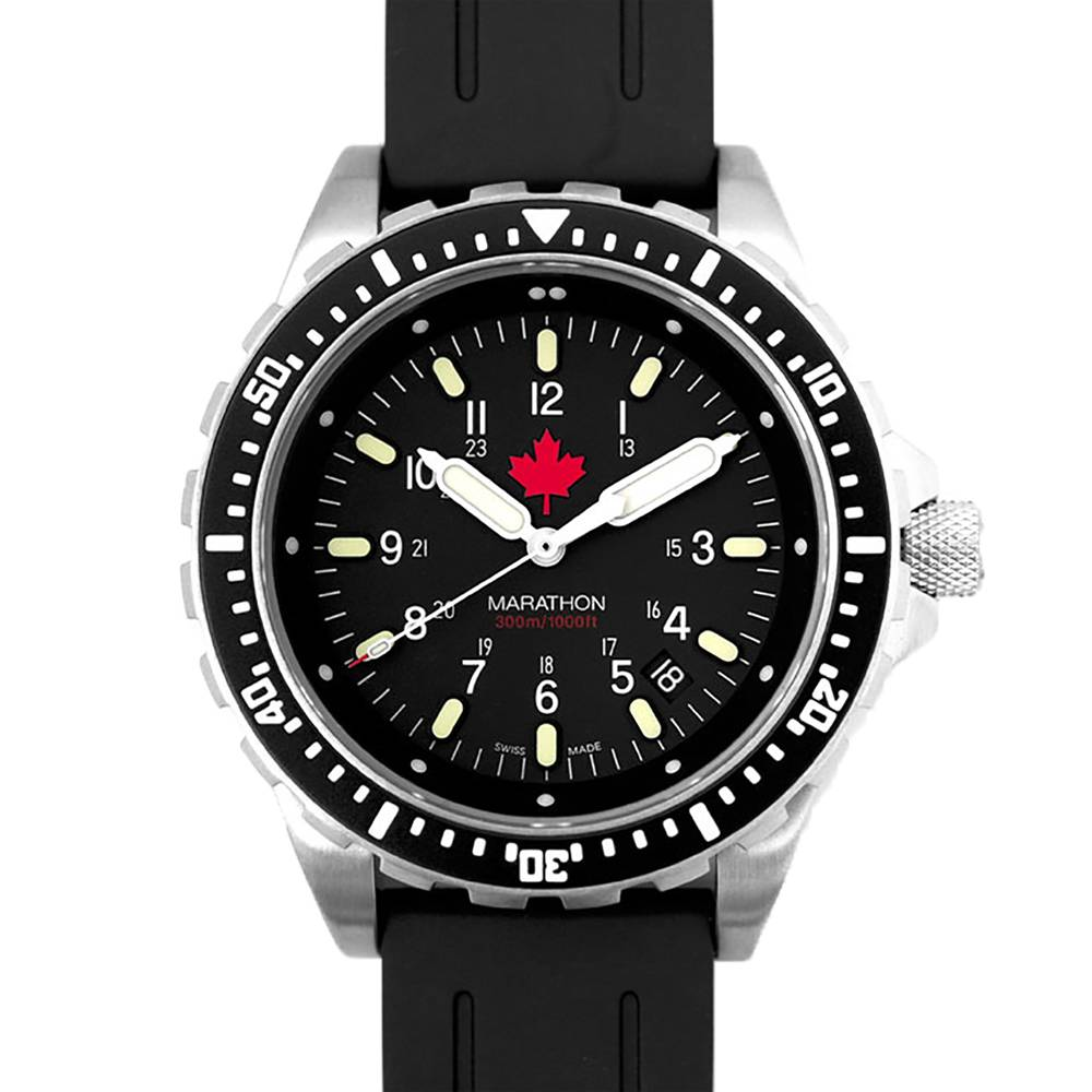 Marathon Watches Marathon Watches JSAR Swiss Made Military Issue Jumbo Diver's LGP Watch w/ MaraGlo Illumination