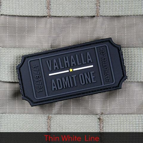 Violent Little Machine Shop Violent Little Machine Shop Valhalla Admit One Ticket Morale Patch