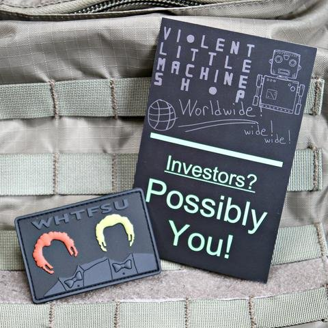Violent Little Machine Shop Violent Little Machine Shop WHTFSU Stepbrothers Morale Patch