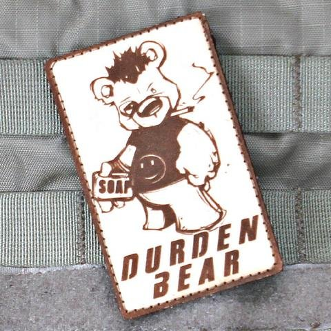 Violent Little Machine Shop Violent Little Machine Shop Durden Bear Fight Club Morale Patch