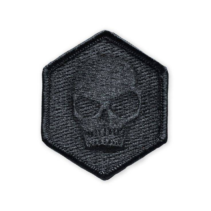 Prometheus Design Werx Prometheus Design Werx Memento Mori Black Out Patch - Hexagon