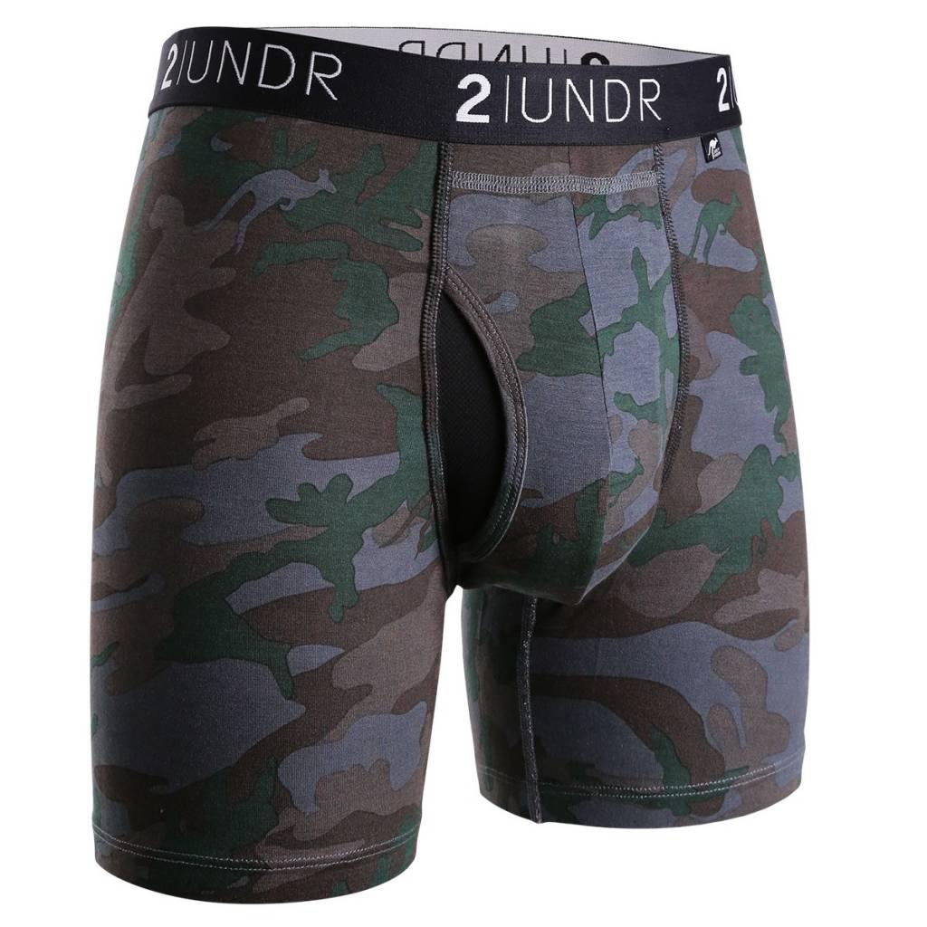 2UNDR 2UNDR Swing Shift Boxer Brief, Dark Camo, Medium