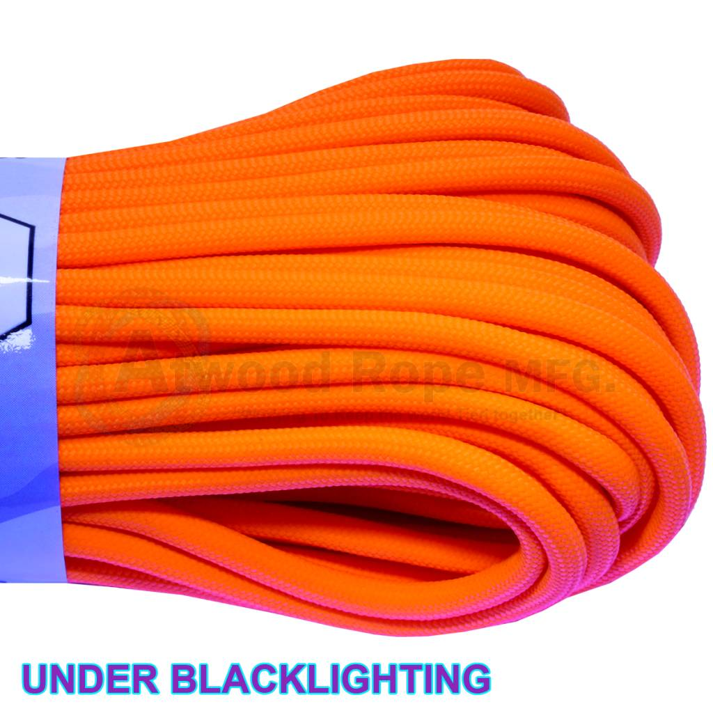 Atwood Rope MFG Atwood Rope MFG 550 Paracord 100ft - Neon Orange