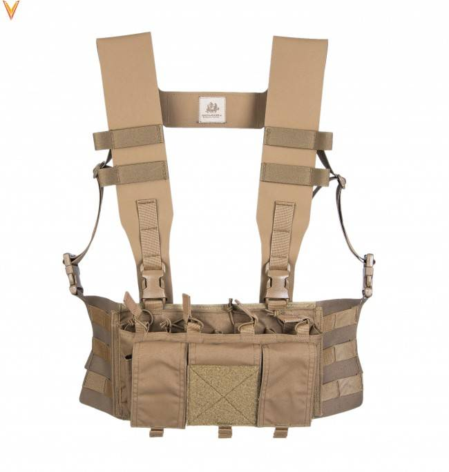 "Velocity Systems Velocity Systems Small Placard Chest Rig Adapter With ULTRAcomp 3"" H-Harness"