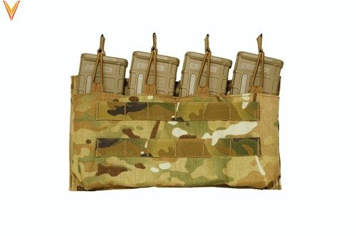 Mayflower Mayflower Helium Whisper Quad 5.56 Magazine Pouch, Open Top
