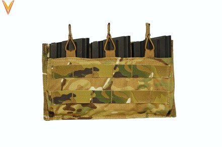 Mayflower Mayflower Helium Whisper Triple 7.62 Magazine Pouch, Open Top