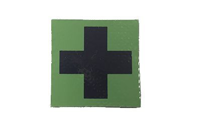Medic Cross IR Patch, OD Green Ver. 2 (Black Cross/Green Background)